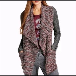 Lucky Brand Open Front Boho Cardigan Sweater